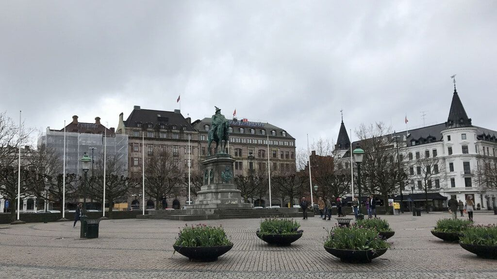 Estatua de Karl Gustav en Stortorget