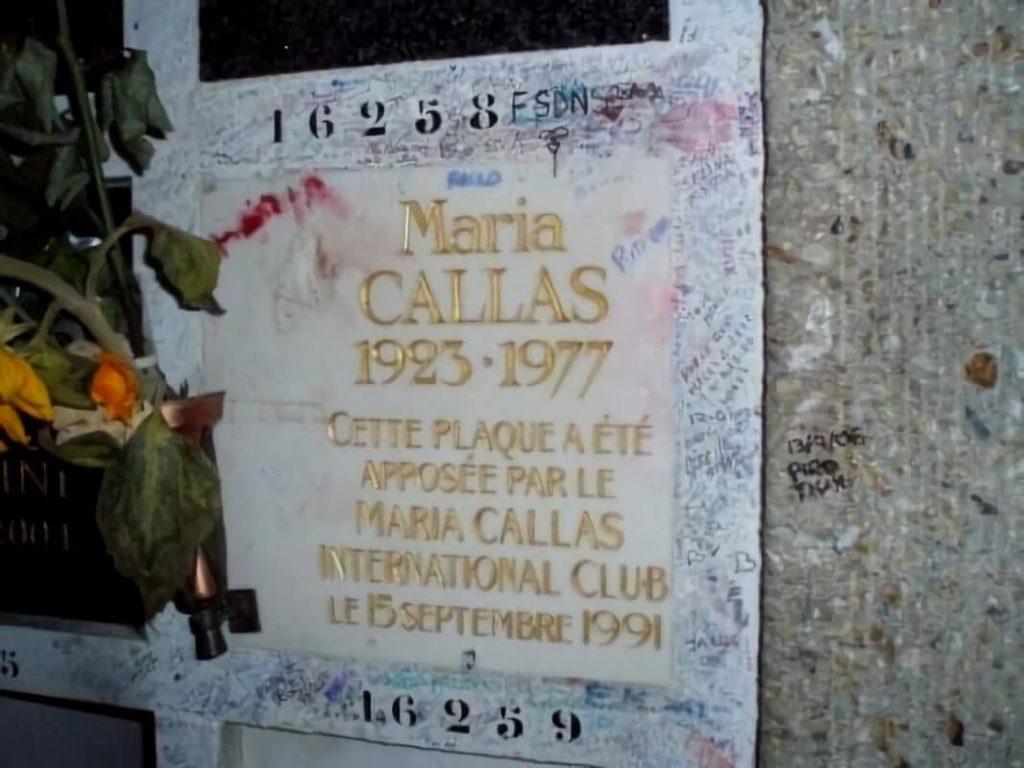 cementerio Père Lachaise, Maria Callas