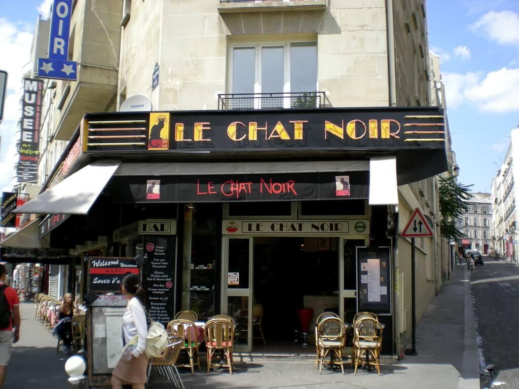 El famoso café Le Chat Noir