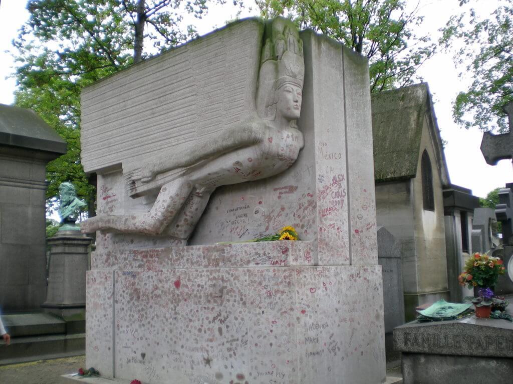 Tumba de Oscar Wilde en Père Lachaise