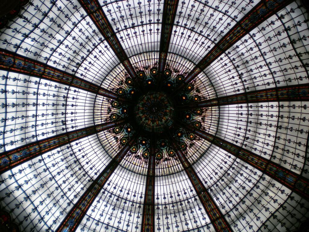 Cúpula interior de las Galerías Lafayette