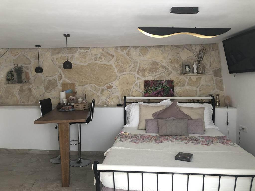 Una de las habitaciones de Casa di Lavanda