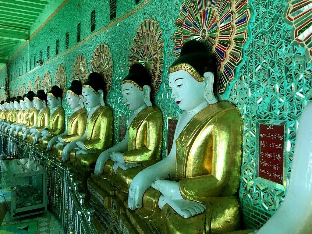 Budas de la Pagoda U Min thonze