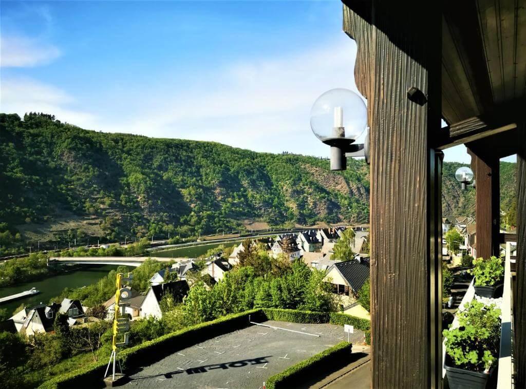 Vistas de Cochem desde el hotel Moselromantik