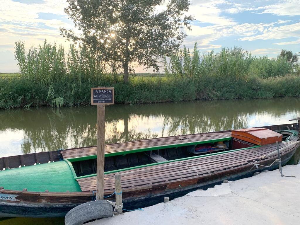 Uno de los mini embarcaderos de El Palmar