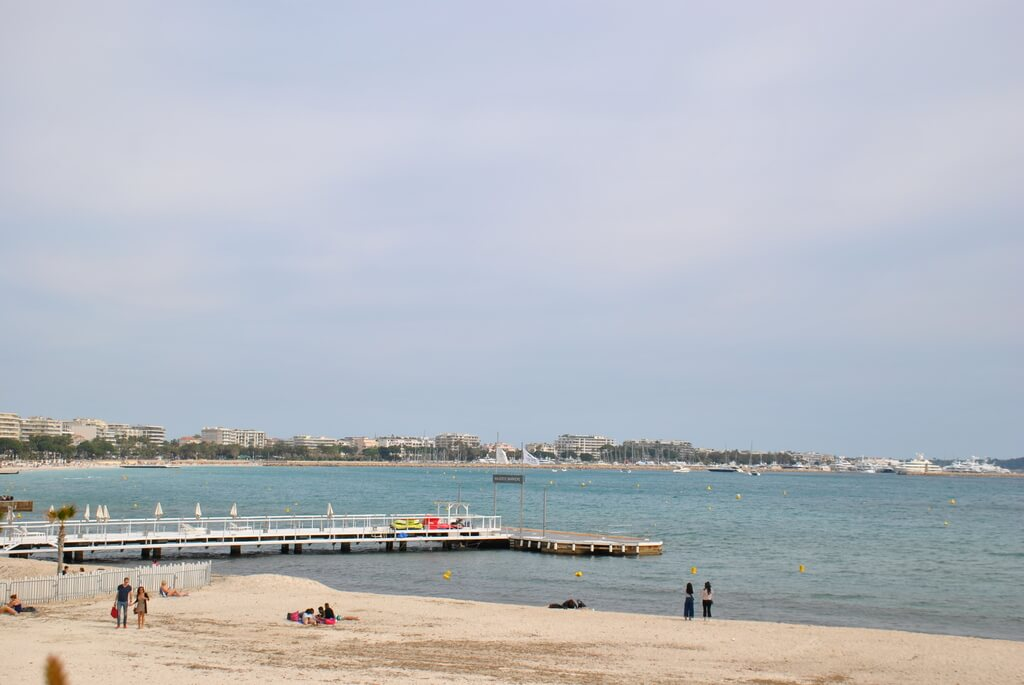 Playa junto a La Croisette
