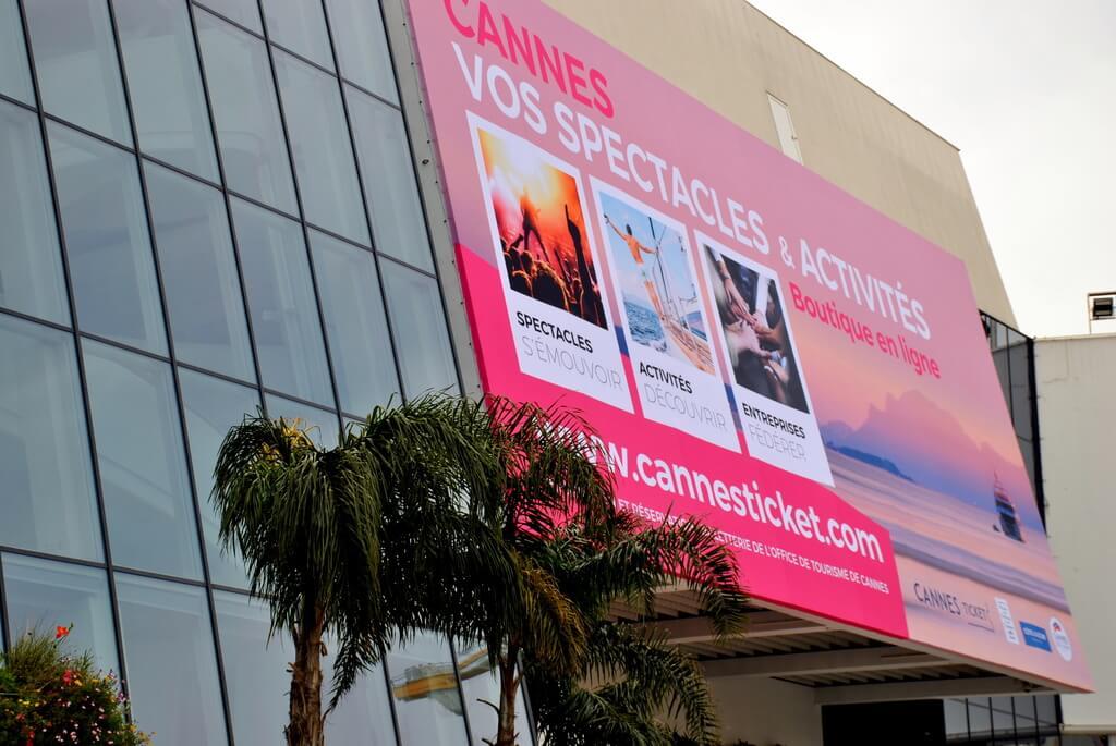 Edificio donde se celebra el Festival de cine de Cannes