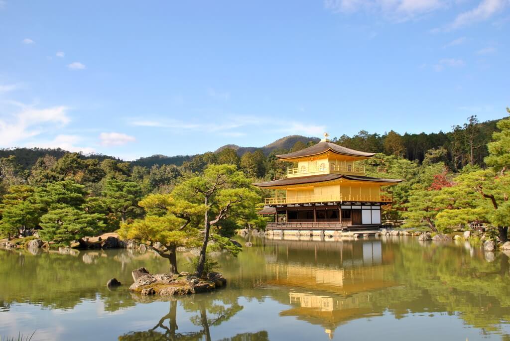El reflejo del Kinkaku-Ji sobre el lago Kyoko-chi