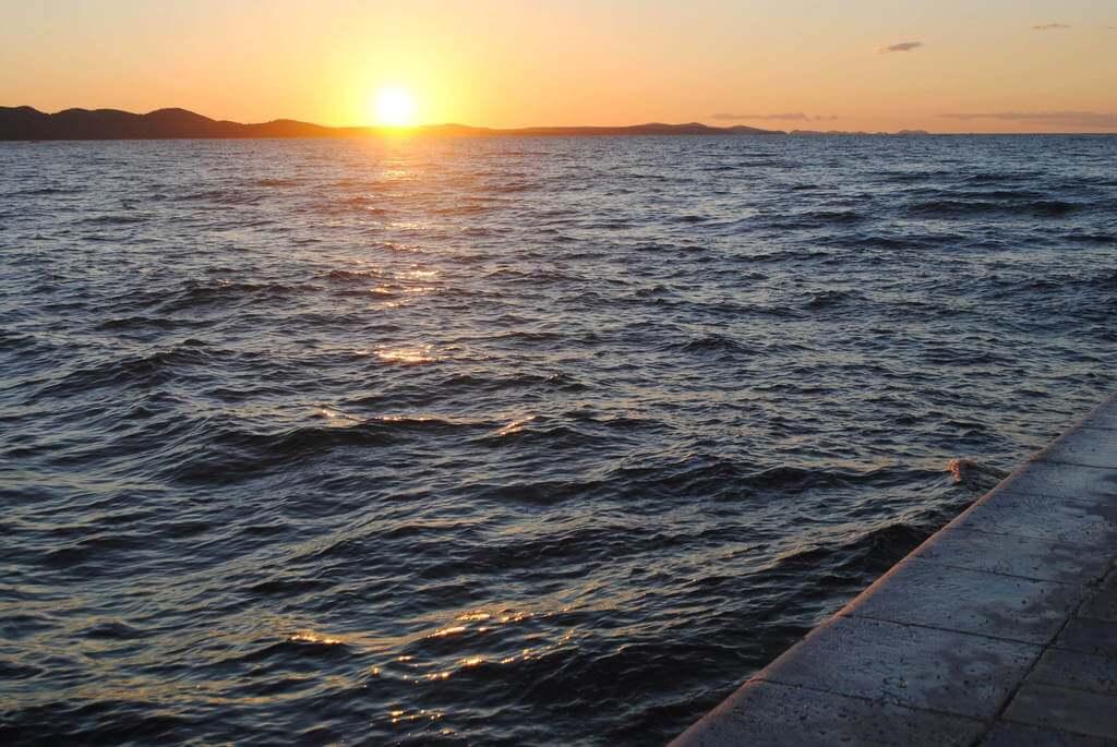 El atardecer desde el Órgano del Mar