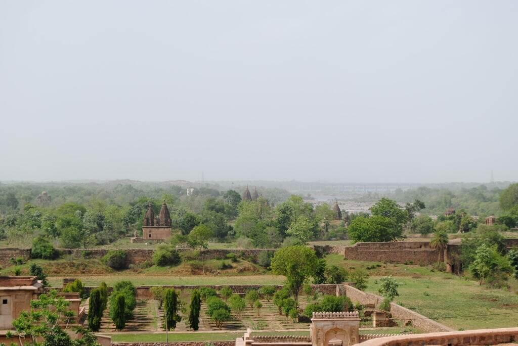 Orchha desde el Raj Mahal