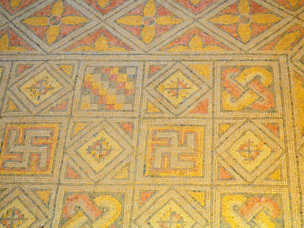 Mosaico elaborado y bien conservado en La Olmeda