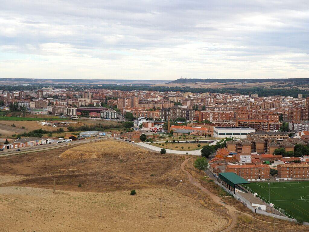 Vistas de Palencia desde el mirador del Cristo