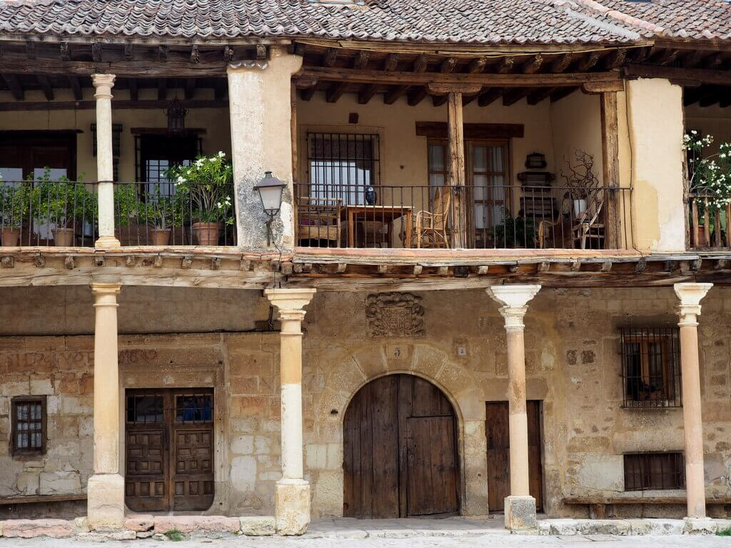 Detalle de una de las casas de la Plaza Mayor