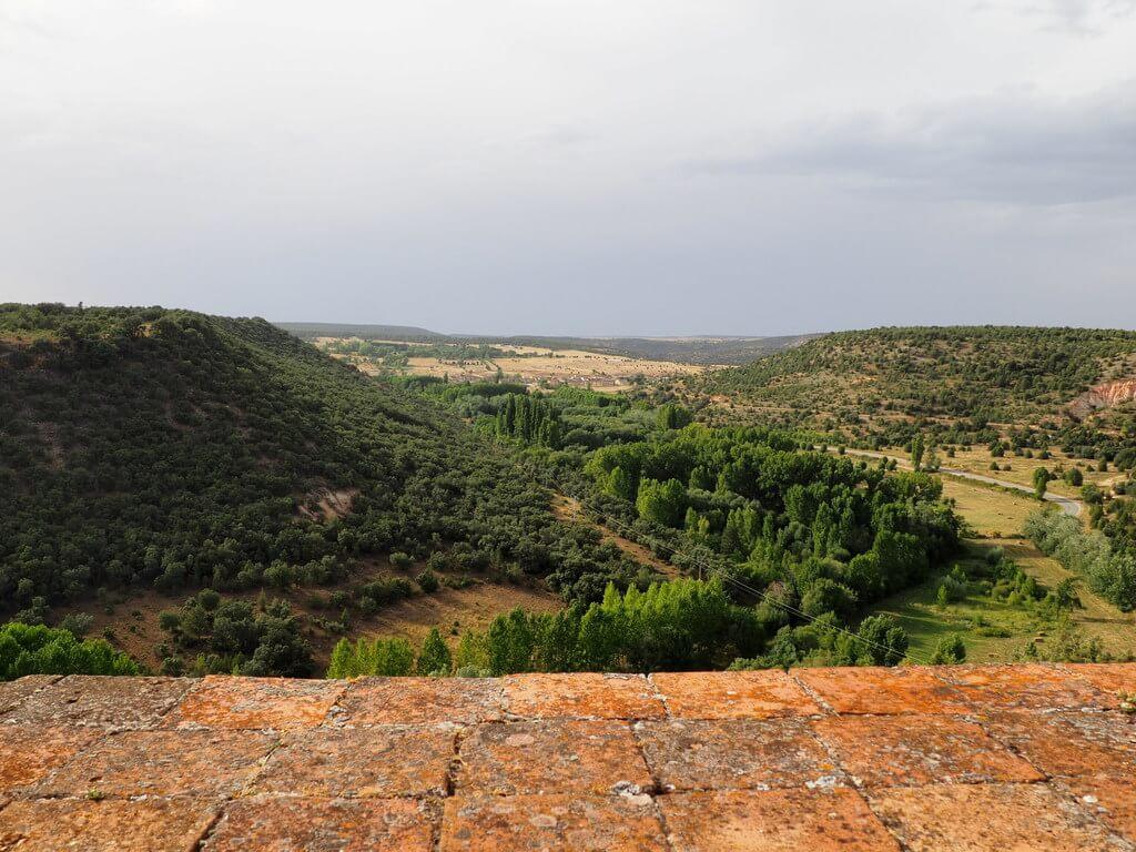 Vistas del entorno de Pedraza desde el castillo