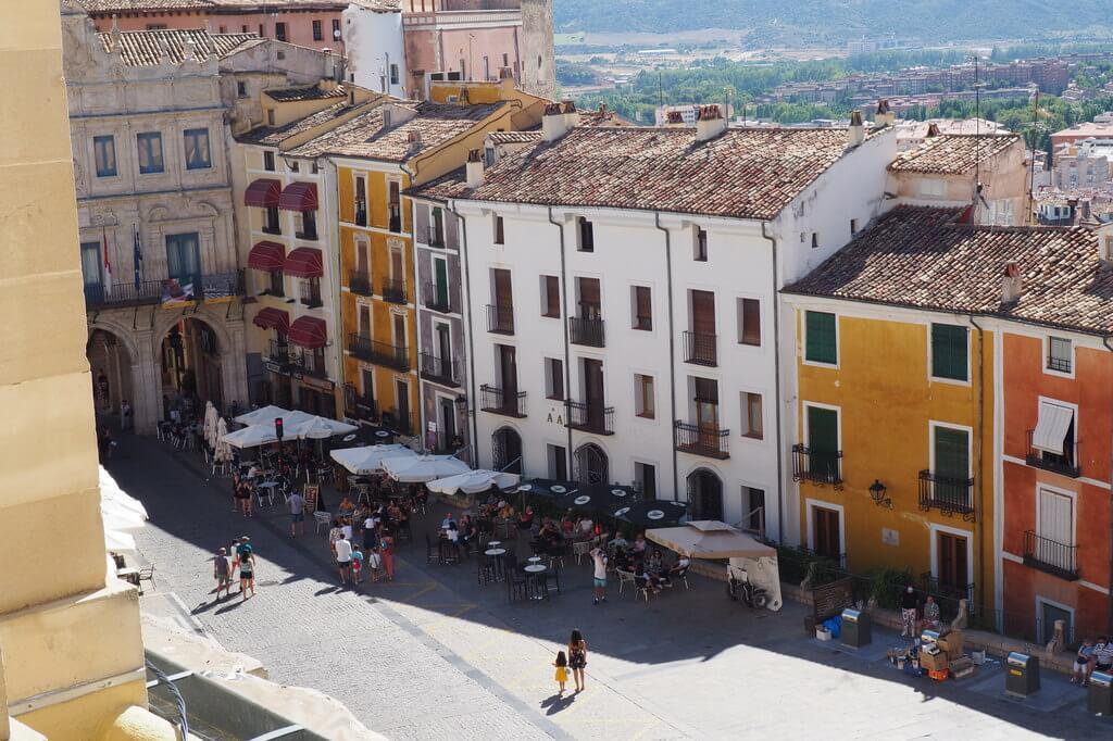La Plaza Mayor de Cuenca desde el Triforio