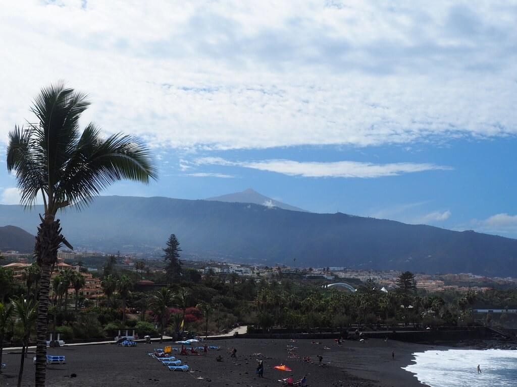 El Teide desde Playa Jardín