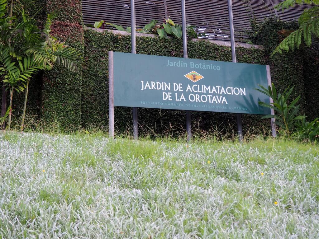 Entrada al Jardín Botánico del Puerto
