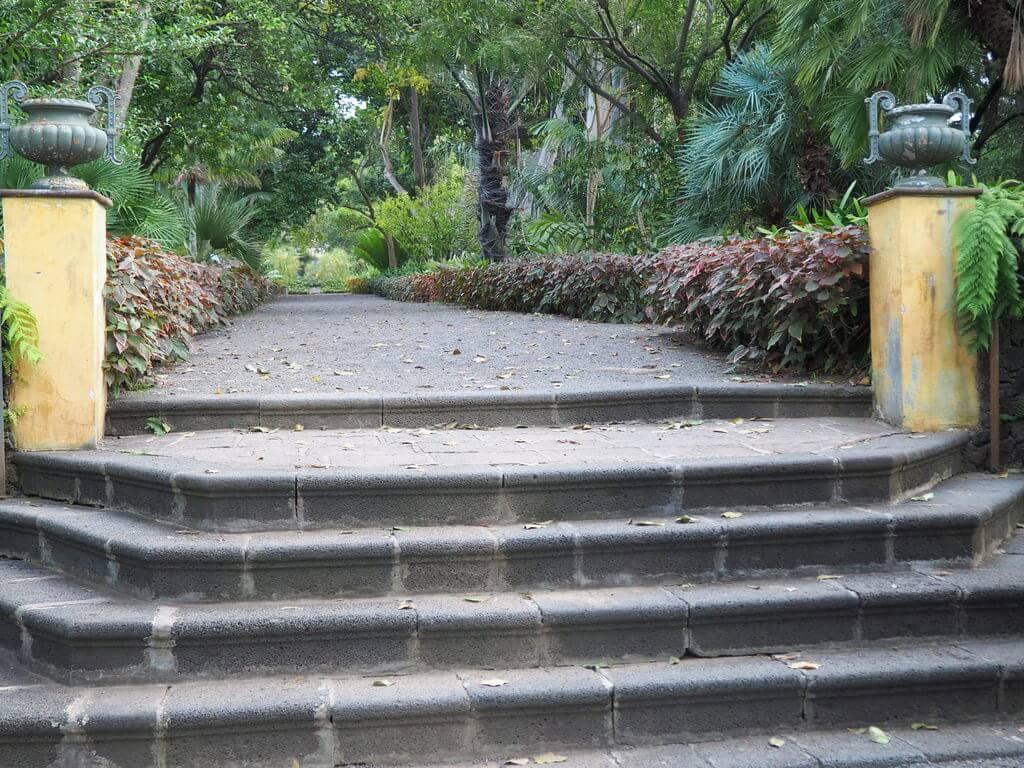 Escaleras de acceso al Jardín Botánico