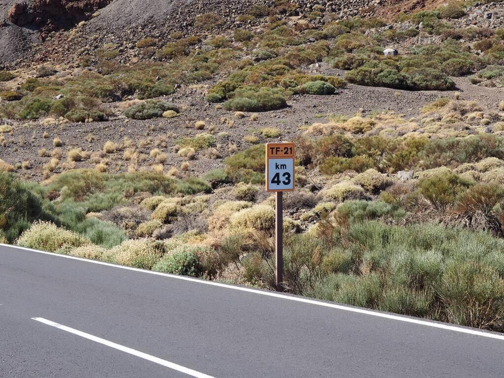 Carretera TF-21 Teide