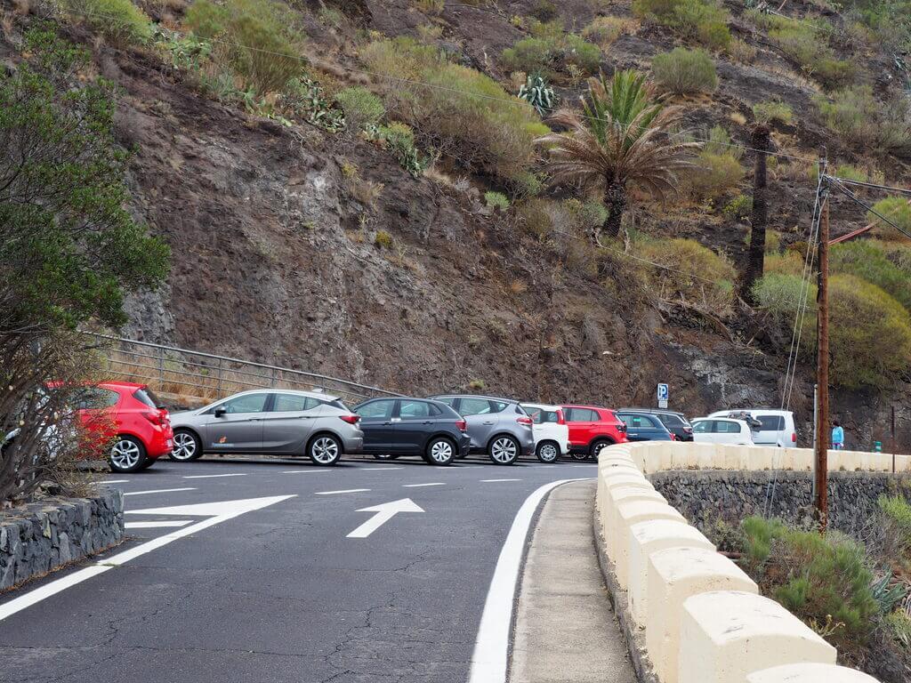 Parking gratuito de Masca
