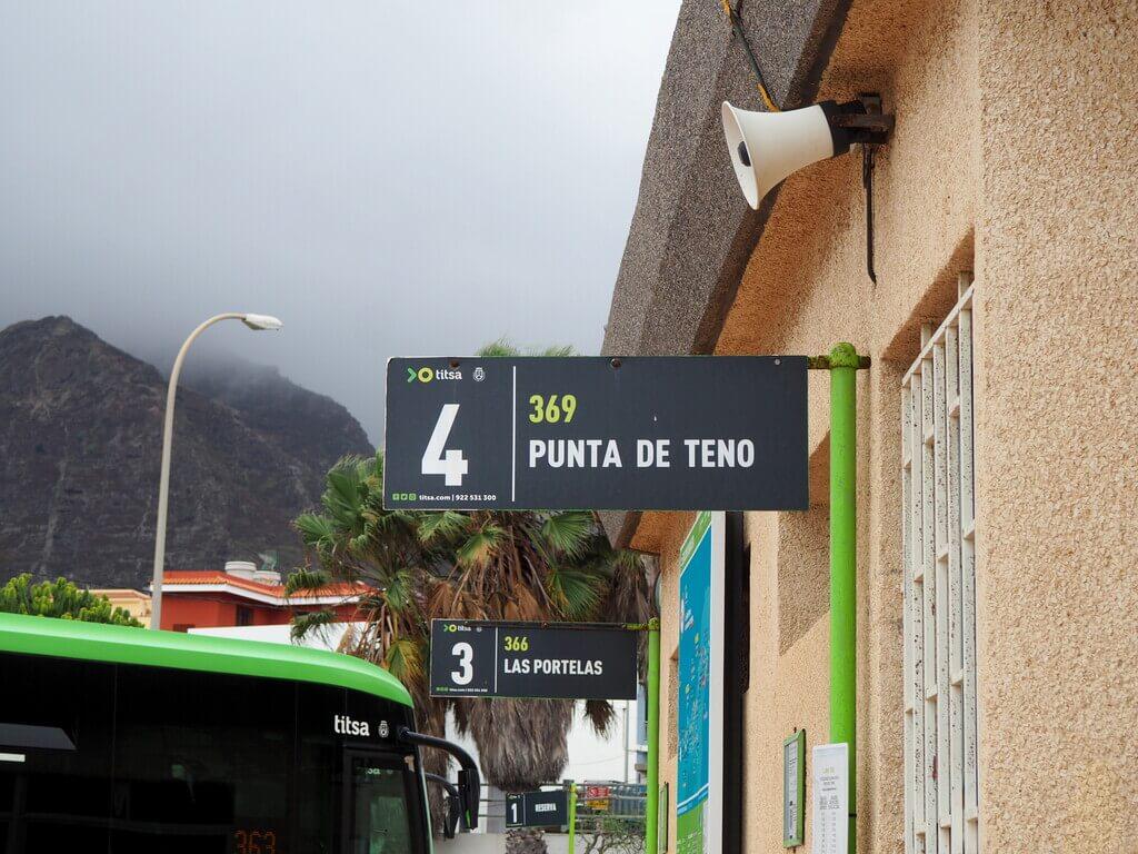 Parada autobús 369. Estación de guaguas