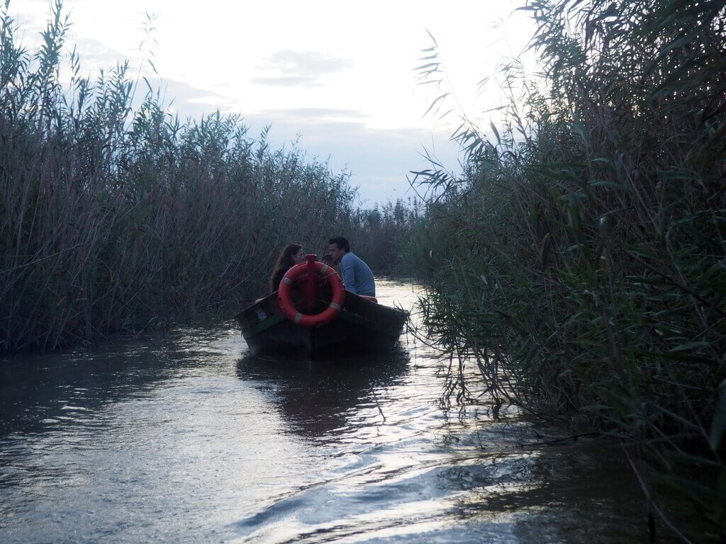 aseo en barca por la Albufera