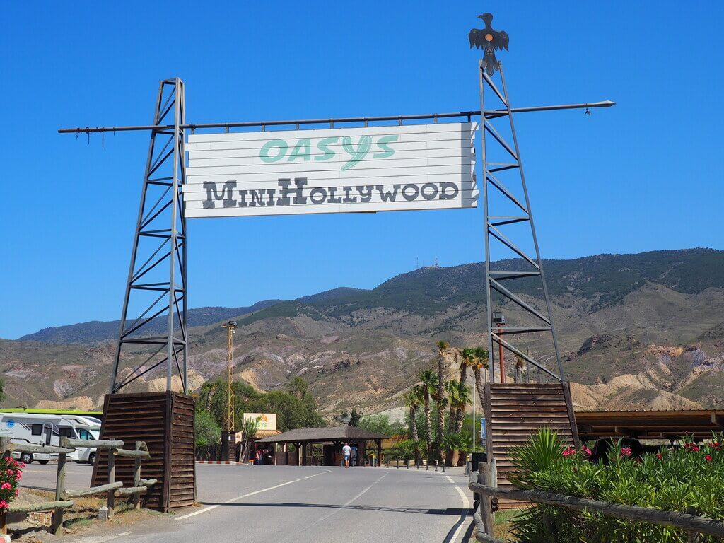 Entrada principal a Oasys Minihollywood