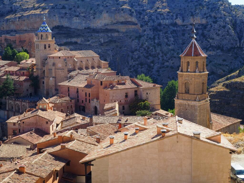 Casco histórico de Albarracín desde las murallas
