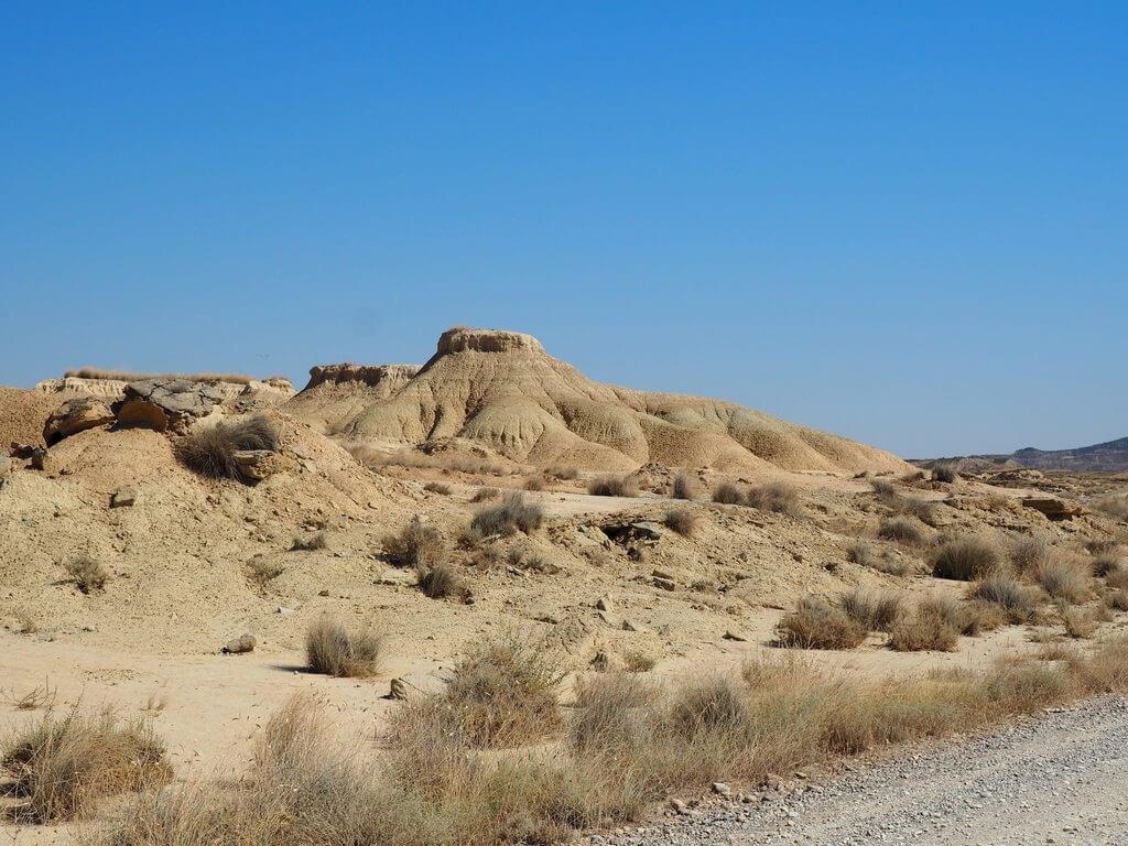 La erosión haciendo de las suyas en el paisaje de las Bárdenas