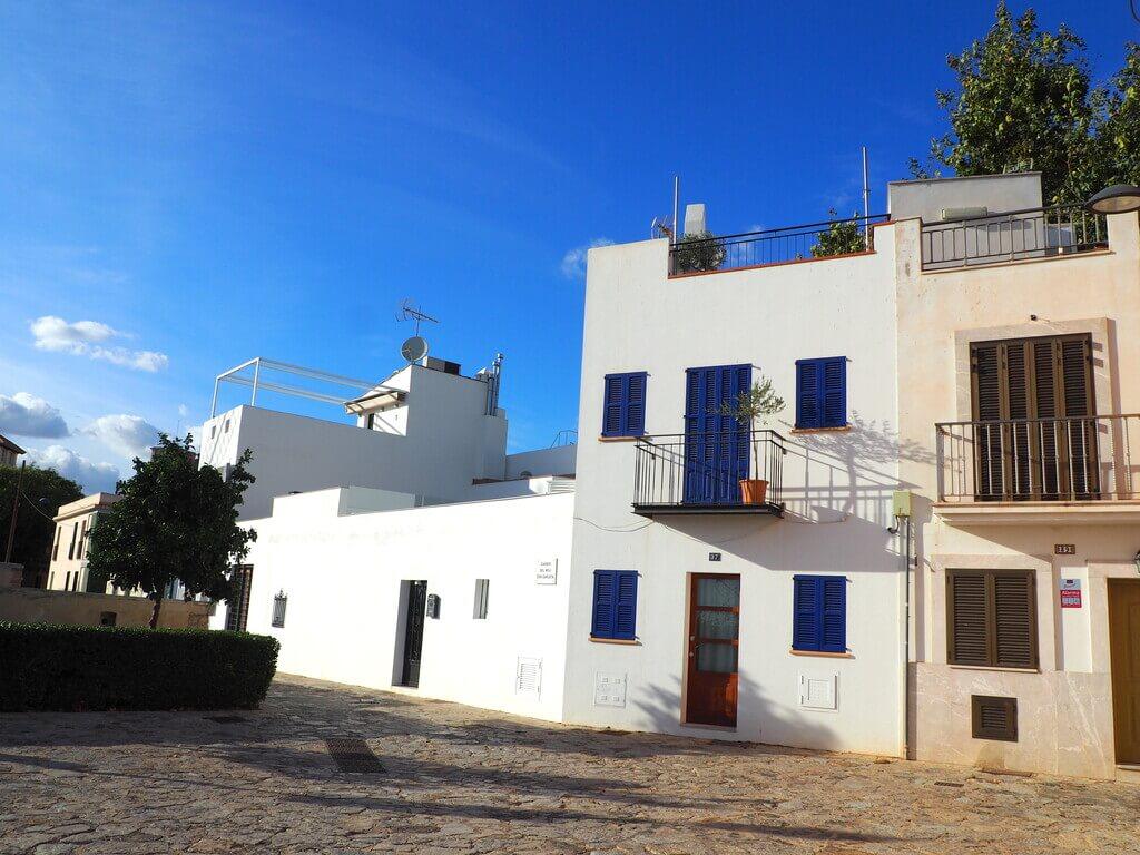 Casas blancas en Es Jonquet