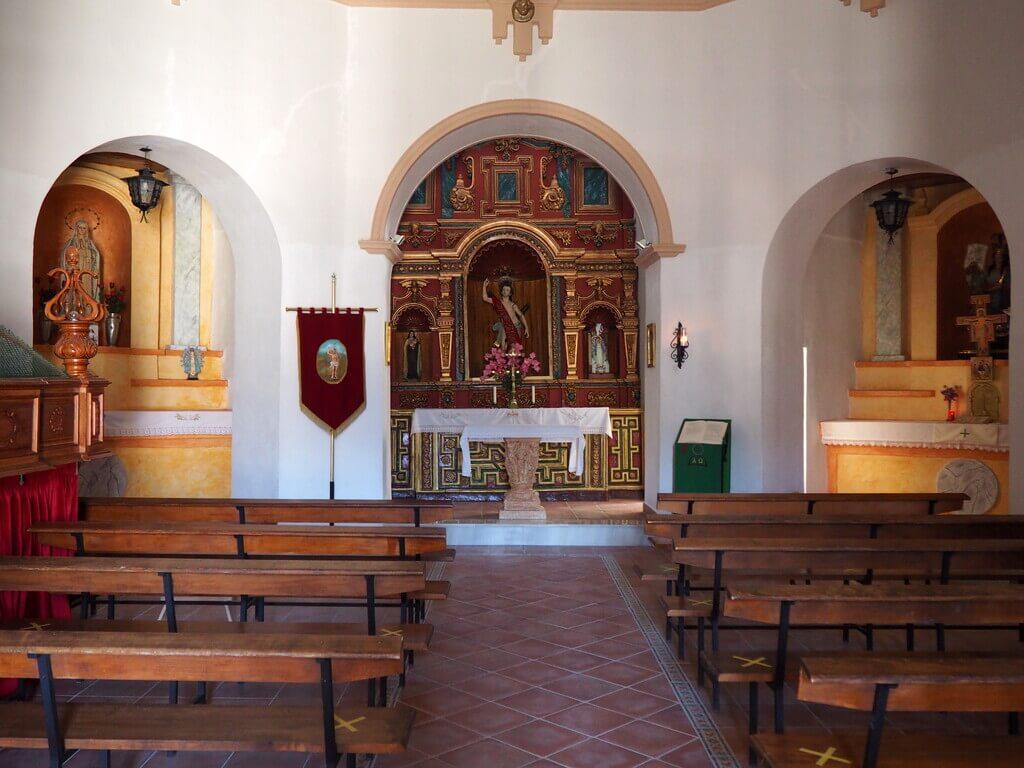 Imagen de San Sebastián dentro de la ermita