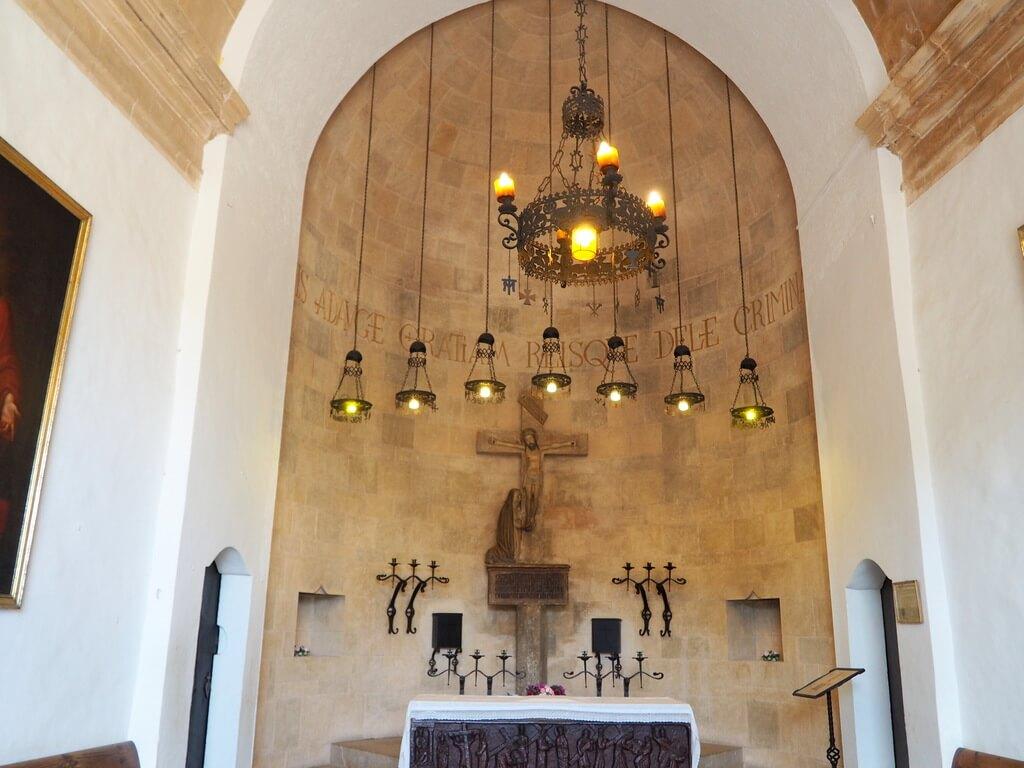 Interior del Santuario del Monte Calvario