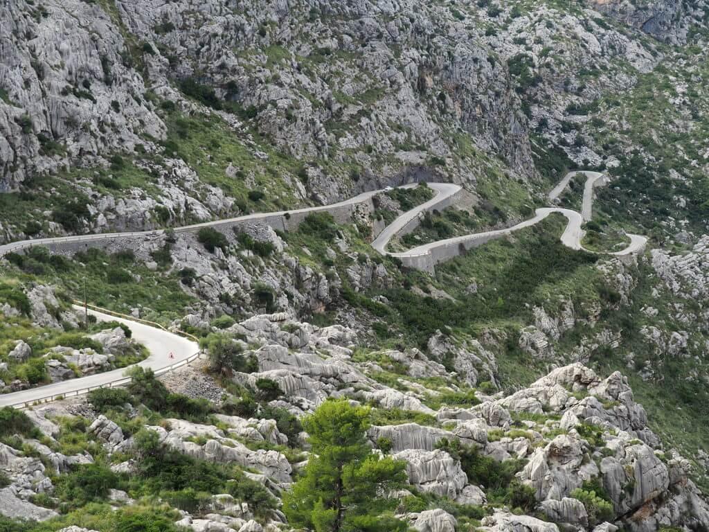 Carretera que conduce a Sa Calobra