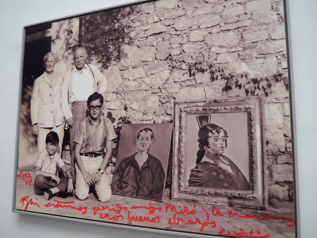 Fotografía de Miró y Picasso
