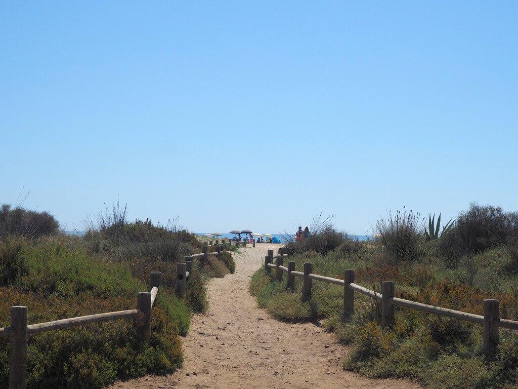 Camino que lleva a la Playa de los Genoveses