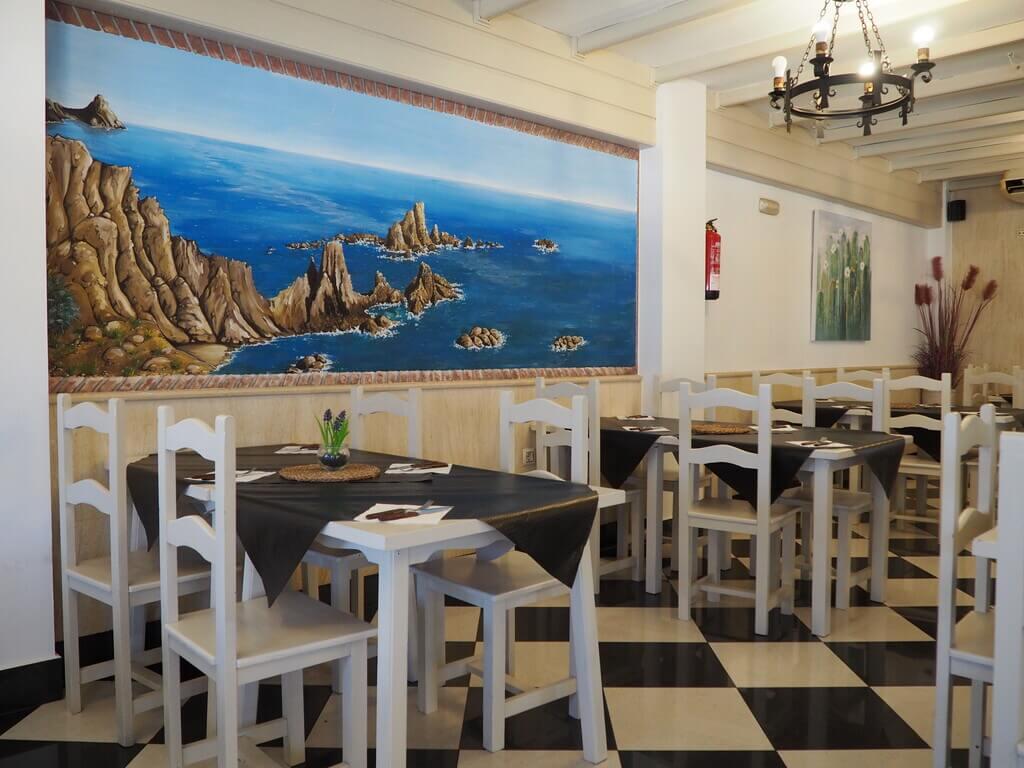 Comedor interior del restaurante Arrecife