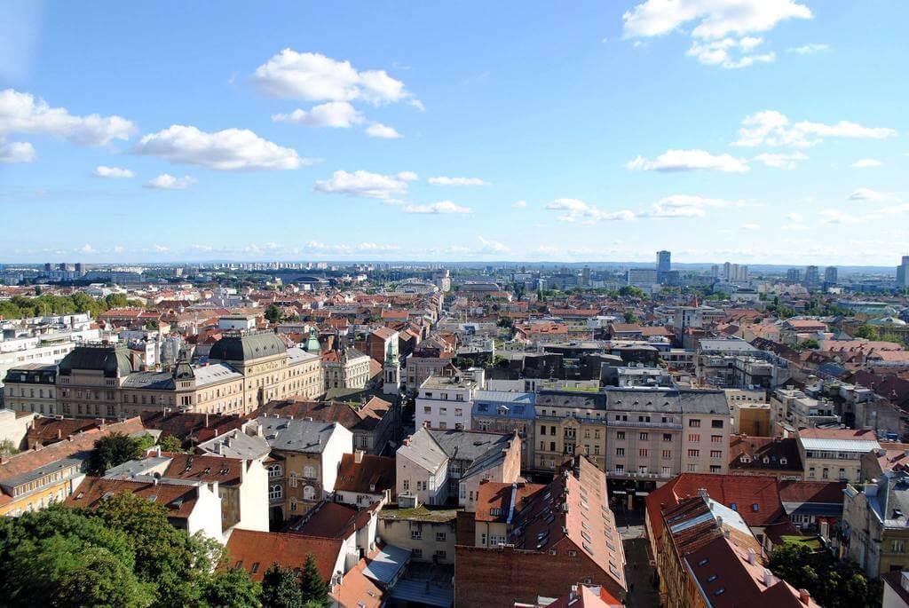 Zagreb desde la Torre Lotrscak