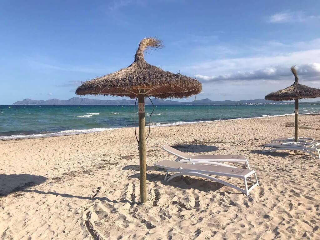 La bonita Playa de Muro