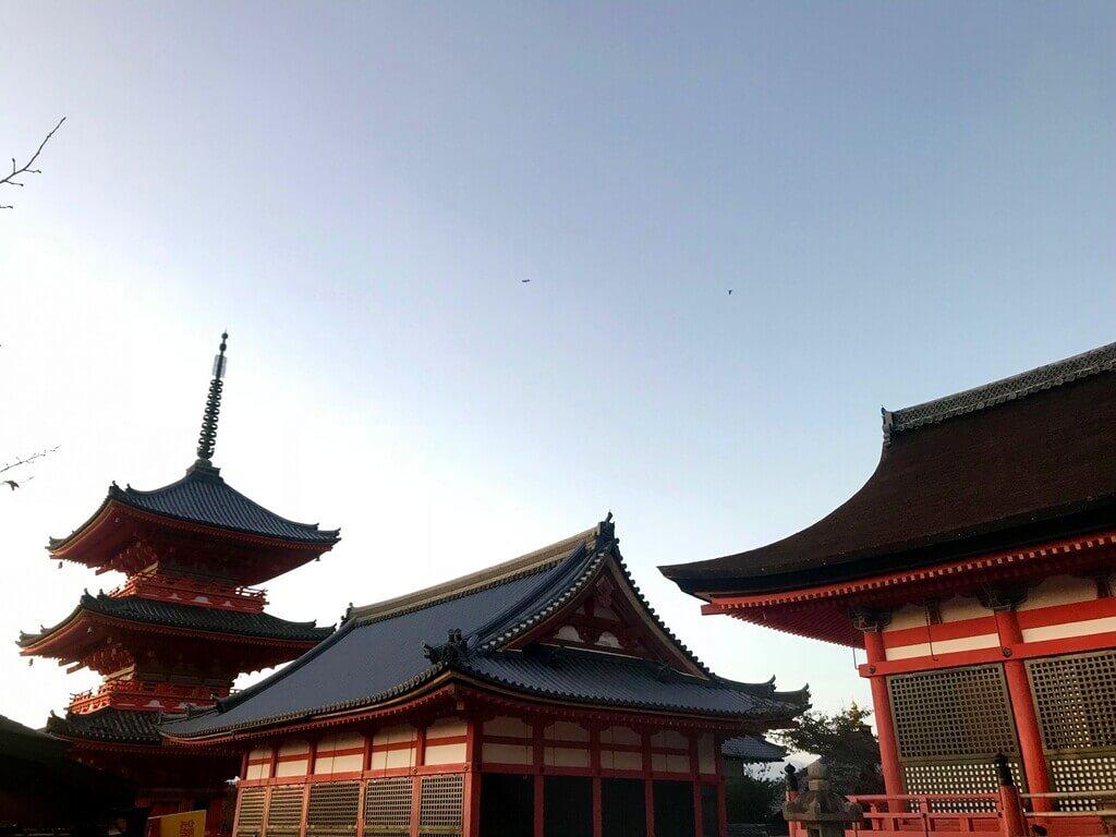 Templo Kiyomizu Dera al atardecer