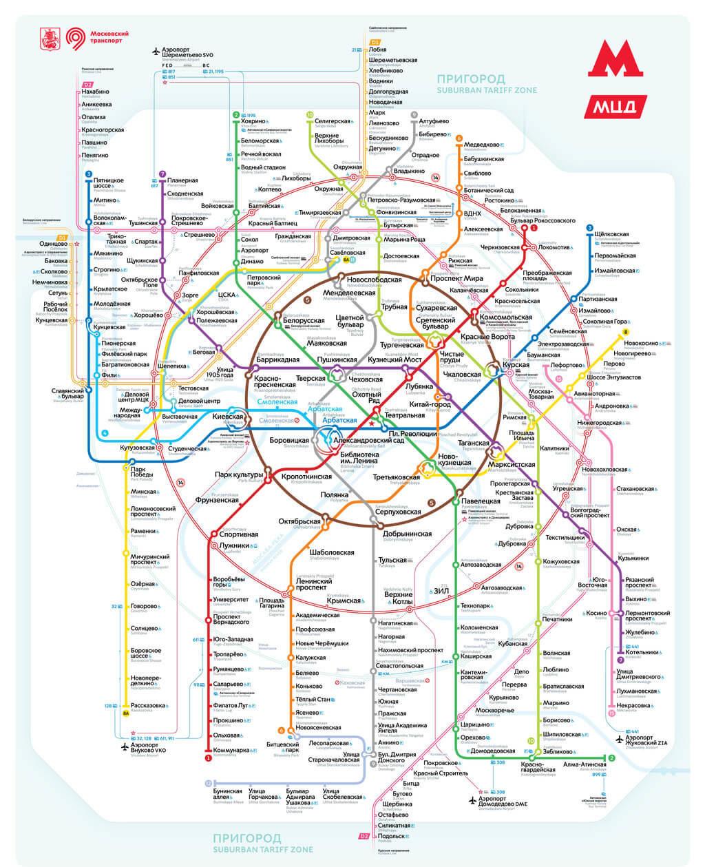 Mapa del metro de Moscú