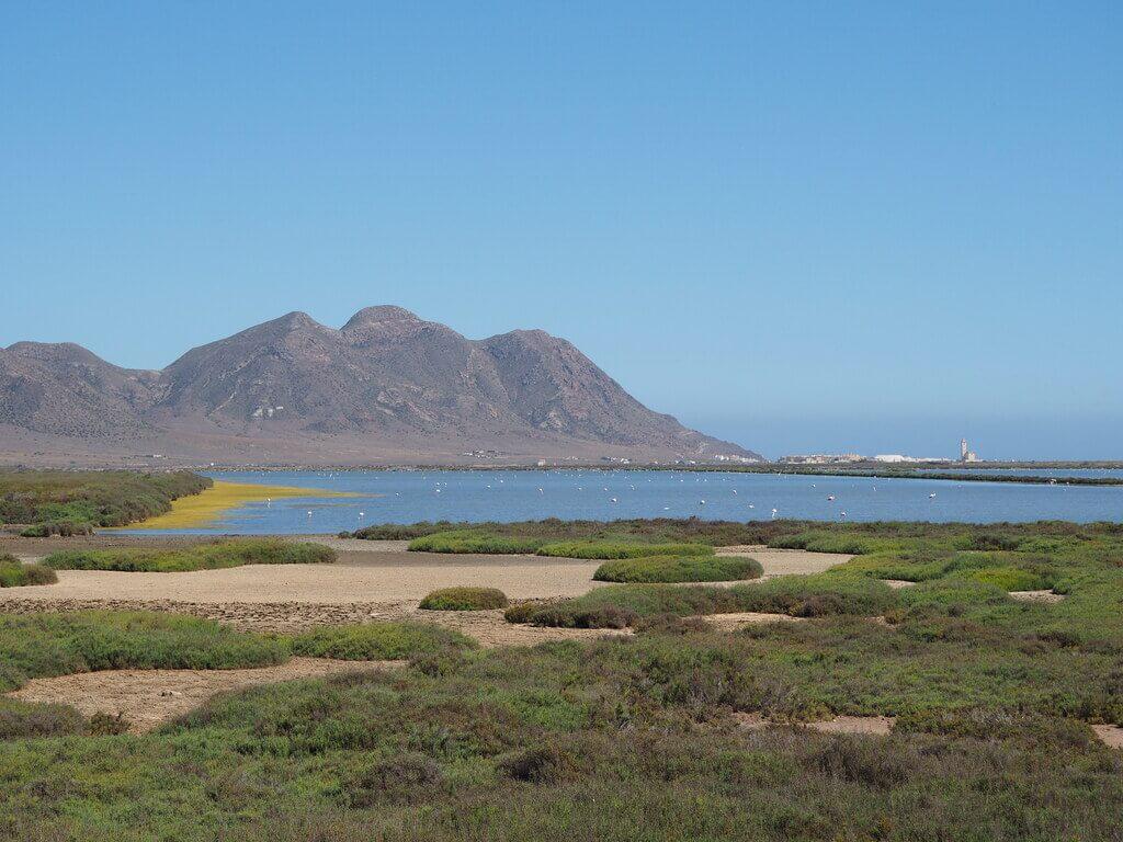 Las salinas de Cabo de Gata desde el mirador