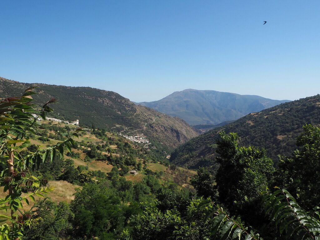 El Barranco de Poqueira desde Capileira