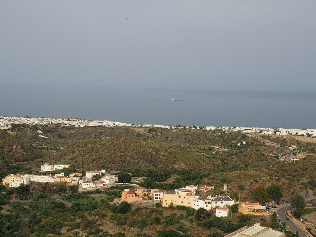 Mojácar playa desde el mirador del Castillo